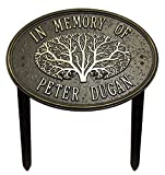 2 Line Personalized - Great Oak Tree Memorial Lawn Plaque