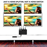 1x4 HDMI Splitter Adapter, OTYTY V1.4 Mini HDMI