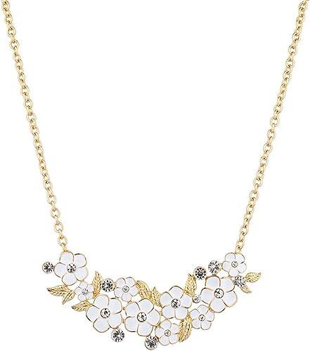 "NEW Crystal Leaf Bubble Bib Pendant Statement Necklace 20/"" Adjustable Women/'s US"