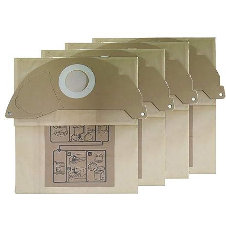 4PC bolsas de filtro de vellón para aspiradoras Karcher WD4 ...