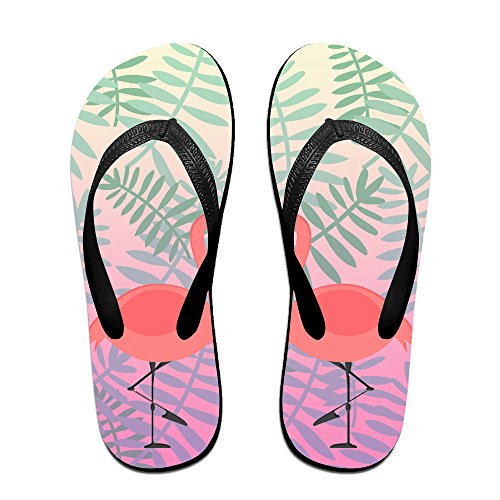 a10451a4af6 good Pink Flamingo Plants Unisex Fashion Beach Slipper Indoor And Outdoor  Classical Flip Flop Thong Sandals