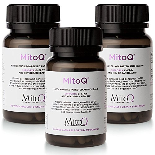 MitoQ Antioxidant Supplement 180 Capsules – Advanced CoQ10 Ubiquinol for Healthy Organs and Cellular Health Support