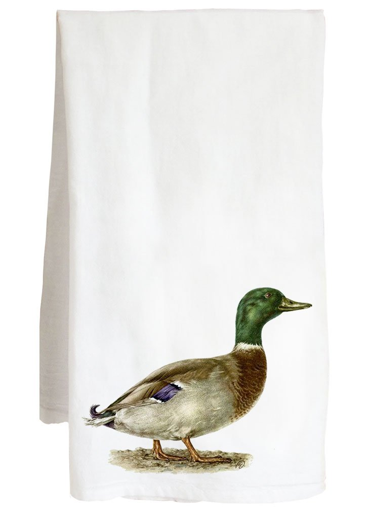 Live Nice MALLARD VINTAGE ANIMAL - duck geese goose - Farm Flour Sack Kitchen Tea Towel