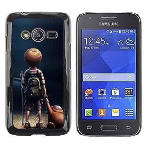 TopCaseStore / la caja del caucho duro de la cubierta de protección de la piel - Mom Mother Cute Kid Son Night - Samsung Galaxy Ace 4 G313 SM-G313F