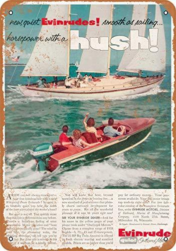 Wall-Color 10 x 14 Metal Sign - 1954 Evinrude Outboard Motors 2 - Vintage Look