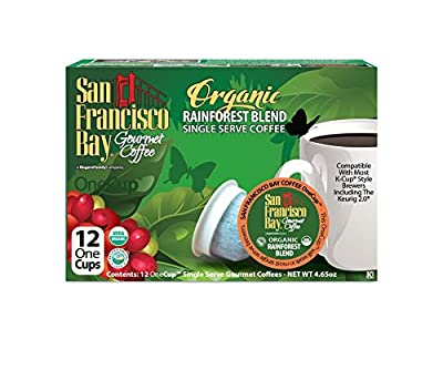 San Francisco Bay OneCup, Organic Rainforest Blend, 12 Count- Single Serve Coffee, Compatible with Keurig K-cup Brewers (Pack of 3)