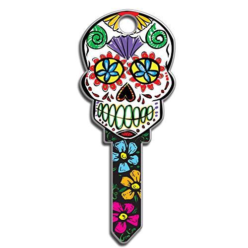 Lucky Line Key Shapes, Sugar Skull, House Key Blank, KW1/11, 1 Key (B136K)
