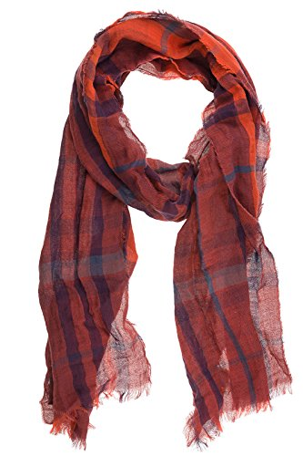 Burberry men's cotton scarf mu reversible red