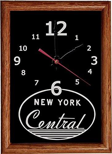 New York Central (Script Logo) Wood Framed Clock