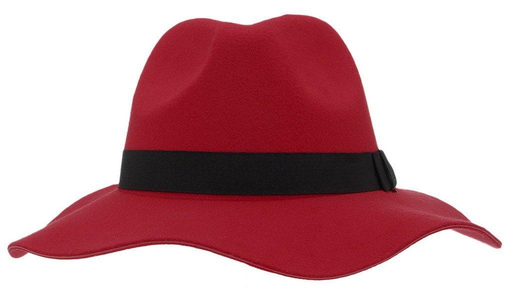 La Vogue Women Woolen Wide Brim Preppy Fedora Hat