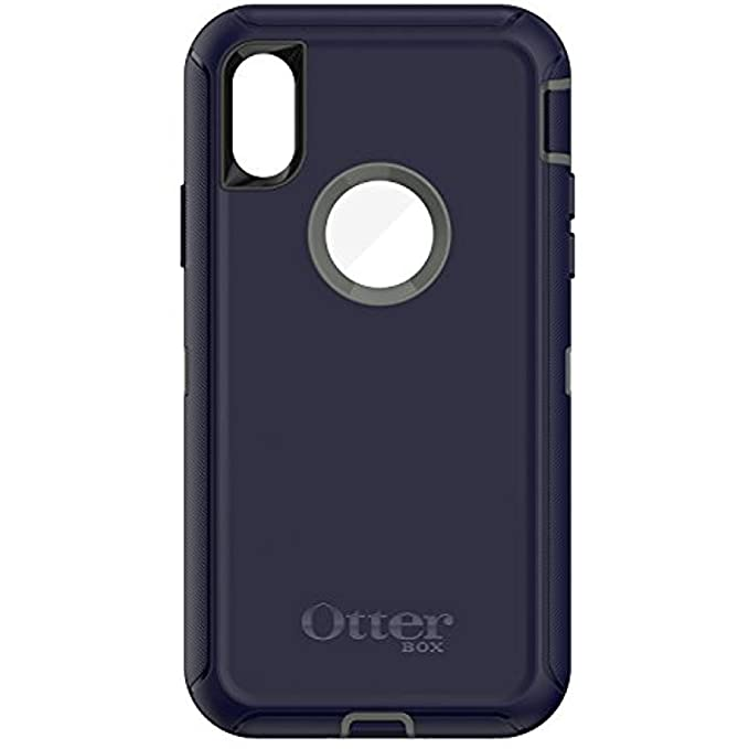 more photos 25eac 13f51 OtterBox Defender Series Case for iPhone X & iPhone Xs (ONLY), Case Only -  Bulk Packaging - Stormy Peaks (Agave Green/Maritime Blue)