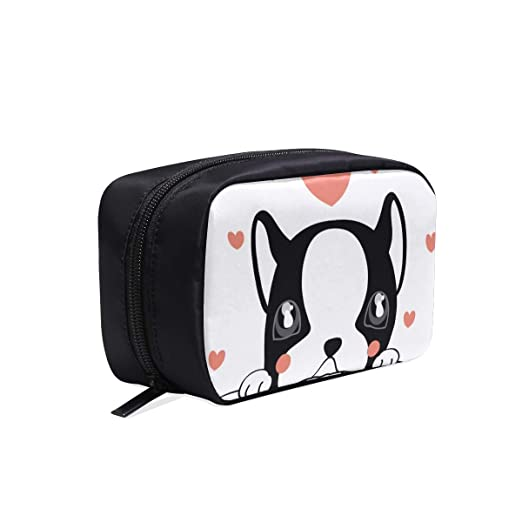 Día de San Valentín Animals In Love Bolsas de cosméticos de maquillaje de viaje portátil Organizador Funda multifunción Bolsas de aseo pequeñas para m