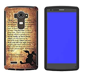 661 - The Velveteen Rabbit Story Real isn't How You are Made Design LG G3 Full Body CASE With Build in Screen Protector Rubber Defender Shockproof Heavy Duty Builders Protective Cover