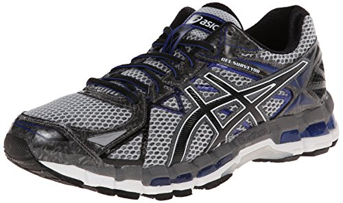 ASICS Men's Gel-Surveyor 3 Running Shoe,Stone/Black/Blue,9.5 M US