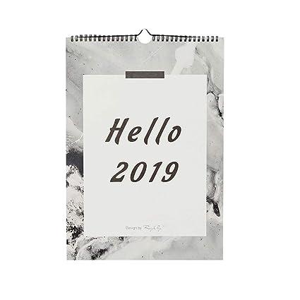 2019 Sencillo Inicio Lágrima Calendario Doble Bobina, Pared ...