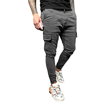 NUSGEAR Pantalones para Hombre, Casuales Moda Trabajo Pantalones ...