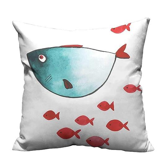 YouXianHome - Funda de cojín para sofá, diseño de pez ángel ...