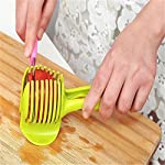 Best Utensils Tomato Slicer Lemon Cutter Multipurpose Handheld Round Fruit Tongs ABS Plastic Onion Holder Easy Slicing Fruits & Vegetable Tools Kitchen Cutting Aid Gadgets Tool 8 MADE IN CHINA: Unique design makes slicing fruits and vegetables more quickly and easily MULTI-PURPOSE: Conveniently designed slicing aid, perfect tool for any task in the kitchen, ideal for tomatoes, onions, lemon, citrus fruit & more! DURABLE & SAFETY: Made of 100% food grade Material, eco-friendly, durable in use. Clamp design, multifunctional, also couble be used as food tongs.