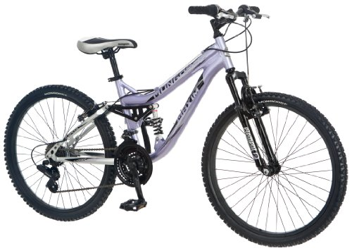 Price comparison product image Mongoose Girl's Maxim Full Suspension Bicycle (24-Inch)
