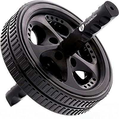 PharMeDoc Ab Roller Exercise Wheel with Reinforced Steel Handles by PharMeDoc