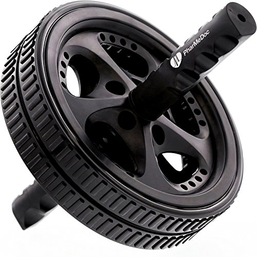 PharMeDoc Ab Roller Wheel – Abdominal Workout Equipment for Core Exercise, Athletes, and Home Gym – Dual Abs Wheel Roller Fitness Equipment