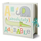 Baby Milestone Keepsake Storage Box: Track Treasured Memories - A is for Adorable