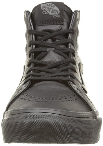 Vans U Sk8-Hi Slim Zip Perf Leather, Sneakers, Unisex Nero (Perf Leather/Black/Black)
