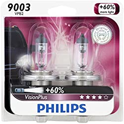 Philips 9003 VisionPlus Upgrade Headlight Bulb, Pack of 2