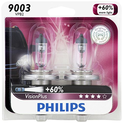 Philips 9003VPB2  VisionPlus Upgrade Headlight Bulb, Pack of 2 (Cross Shaft Assembly)