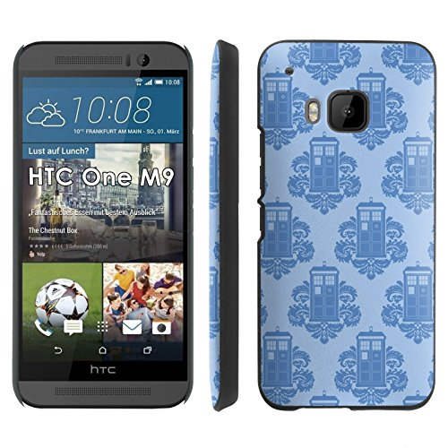 Tardis Wallpaper - Slim Clip-on Phone Case Cover for [HTC One M9] includes [Ultra Clear Screen Protector]