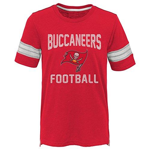 NFL by Outerstuff NFL Tampa Bay Buccaneers Kids Prestige Short Sleeve Crew Neck Tee Red, Kids Medium(5-6)