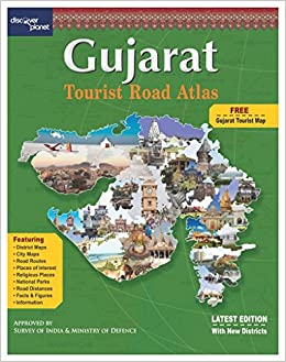Gujarat Tourist Map Buy GUJARAT TOURIST ROAD ATLAS Book Online at Low Prices in India