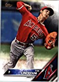 2016 Topps Update #US225 Tim Lincecum Los Angeles Angels Baseball Card in Protective Screwdown Display Case