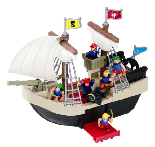 Redbox Pirate Ship Play Set (23 Pieces) (Jake And The Neverland Pirates Jolly Roger Ship)