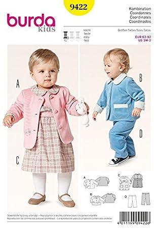 Burda Baby & Kleinkind Schnittmuster 9422 – Kleid, Jacken & Hose ...