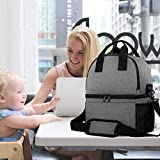 Teamoy Breast Pump Bag Tote with Cooler Compartment
