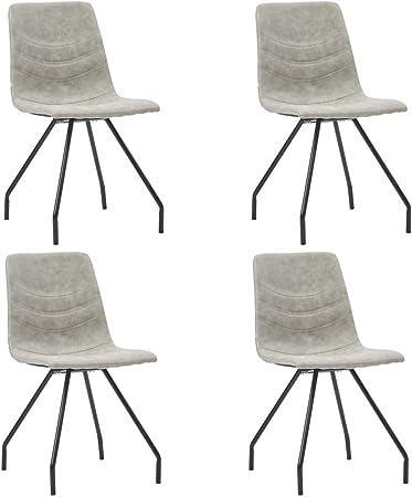 LucaSng Set di 4 Sedie da Pranzo Moderno Elegante,Sedia