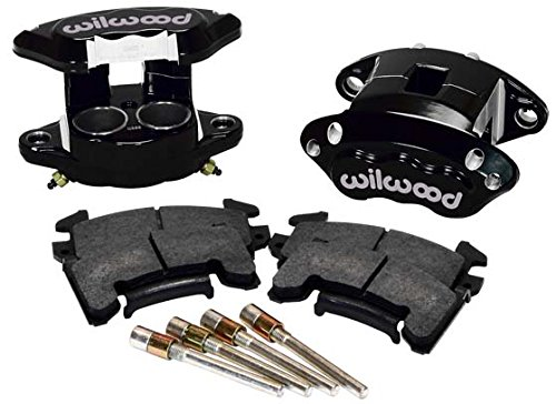 Adult Black Piston - NEW WILWOOD BLACK D154 GM METRIC BRAKE CALIPERS & PADS, FRONT, 2 PISTONS, FOR 1.04