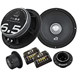 "Massive Audio PK6 - 6 Inch, 6.5"", 500 Watts Max / 250w RMS, 4 Ohm, PK Series, Pro Audio Coaxial Car Audio Speaker System (Pair)"