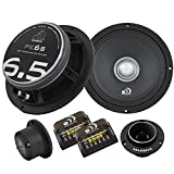 Massive Audio PK6S - 6 Inch / 6.5 Inch, 500 Watts Max / 250w RMS, 4 Ohm, PK Series, Pro Audio Style Component Kit for Car Audio Speaker Systems (Sold As Pair)