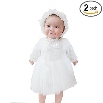 c735201c27937 mikistory ベビー服 新生児 女の子 出産祝い ドレス セレモニードレス結婚式 ホワイト スーツ 73cm