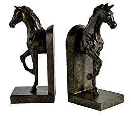Pair of Trotting Horse Bookends Brown Bookends