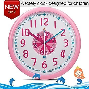 Amazoncom Bai Children Wall Clock Butterflies Home Kitchen - Wall clock for kids room