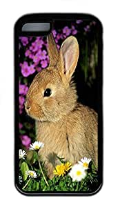 for iphone 6 4.7 Case Cute Gray Rabbit TPU for iphone 6 4.7 Case Cover Black