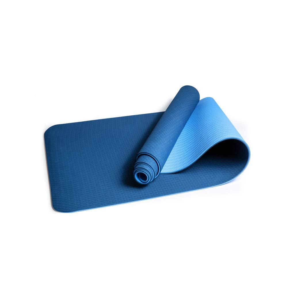 ZAIHW エコフレンドリー6mm厚SGS認定、TPEテクスチャード加工、滑り止めが付いている滑り止めの特大ヨガマット、無臭、滑り止め、耐久性のある軽量、デュアルカラーデザイン、183cmx61cm B07PFB7CSR Style D Style D