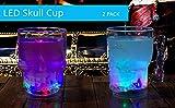 Windy City Novelties LED Light Up Skull Glass - Set of 2