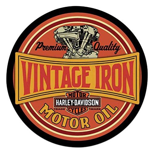 Harley-Davidson Vintage Iron Bar & Shield Embossed Tin Sign, 14 inch 2011491