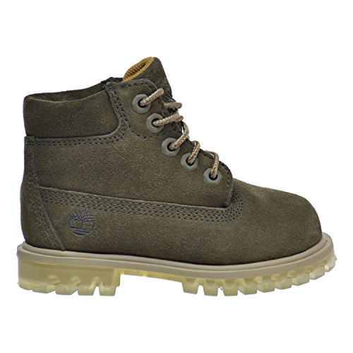 (Timberland 6 Inch TPU Outsole Waterproof Suede Premium Toddler Boots Dark Green tb0a1bm2 (4 M US))
