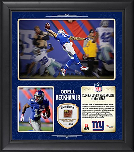 Odell Beckham Jr. New York Giants Framed 2014 NFL Offensive Rookie of the Year 15