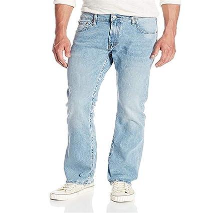 Pantalones de Mezclilla de los Hombres Pantalones Vaqueros ...